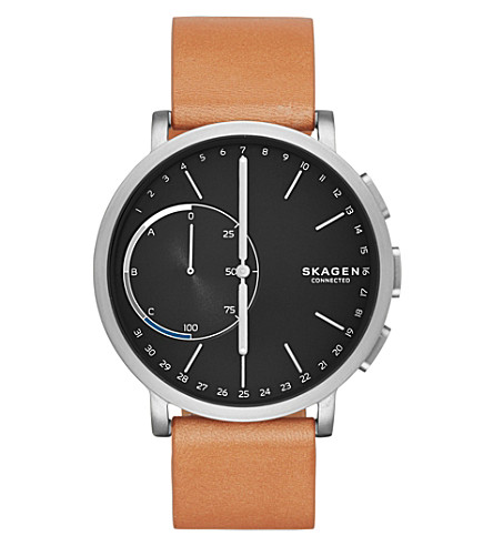 SKAGEN Skagen Connected Hagen Tan Leather Hybrid Smartwatch (Tan