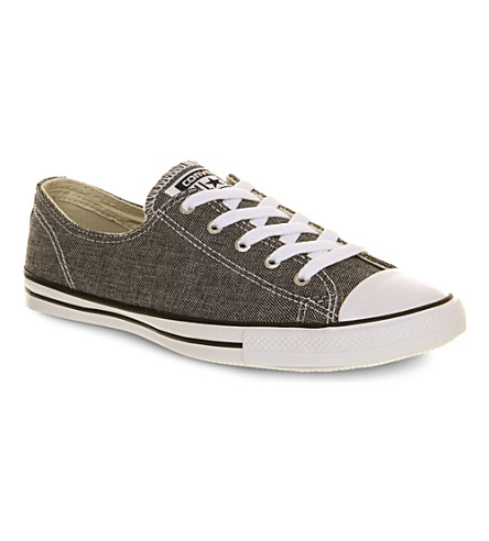 CONVERSE Ctas Fancy low-top trainers (Black chambray