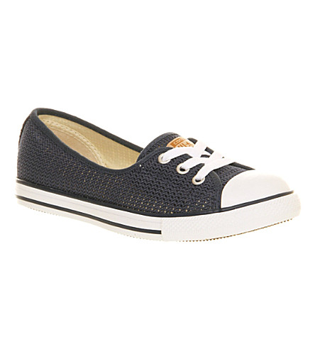 CONVERSE Dance Lace low-top trainers (Navy crochet