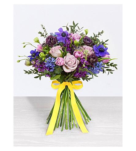 SELFRIDGES SELECTION FLOWERS Mixed Purple Spring Bouquet