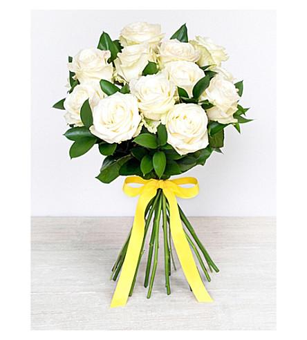 SELFRIDGES SELECTION FLOWERS Twelve White Roses Bouquet