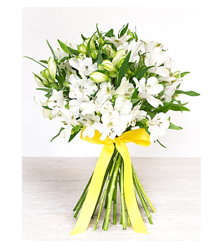 SELFRIDGES SELECTION FLOWERS White Alstromeria Bouquet