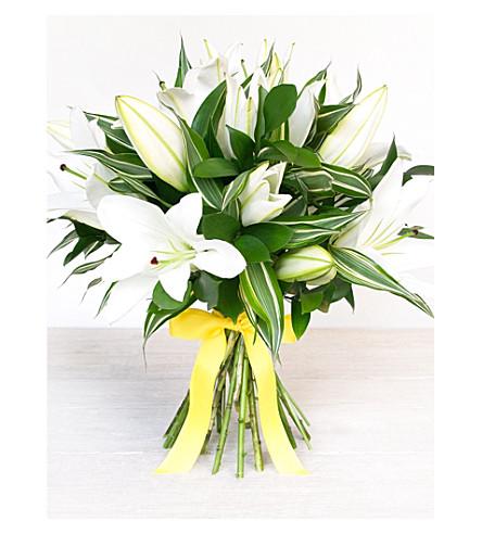 SELFRIDGES SELECTION FLOWERS White Oriental Lily Bouquet