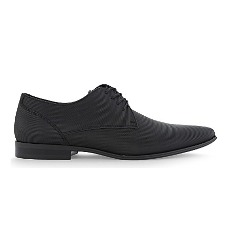 ALDO Aswine leather Derby shoes (Black+leather