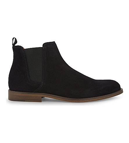 ALDO Vianello leather Chelsea boots (Navy+suede