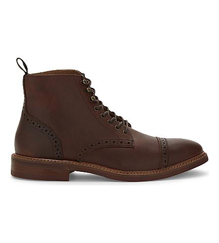 ALDO Gwilawen 皮革德比踝靴 (中 + 棕