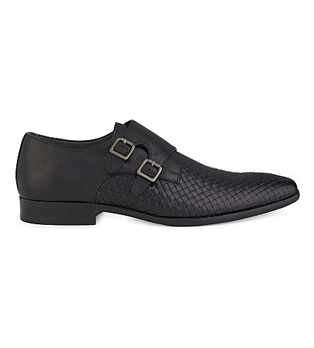 ALDO Nodia leather double monk shoes (Black+multi
