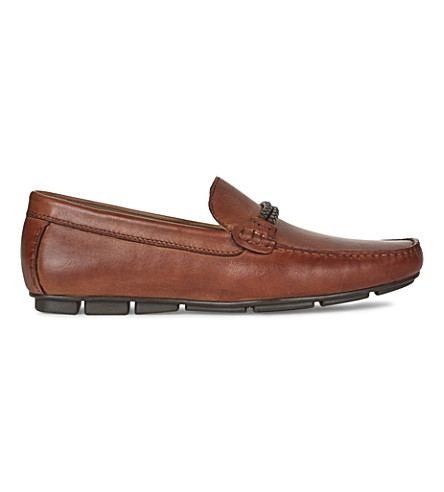 ALDO Fildes leather driving shoes (Cognac