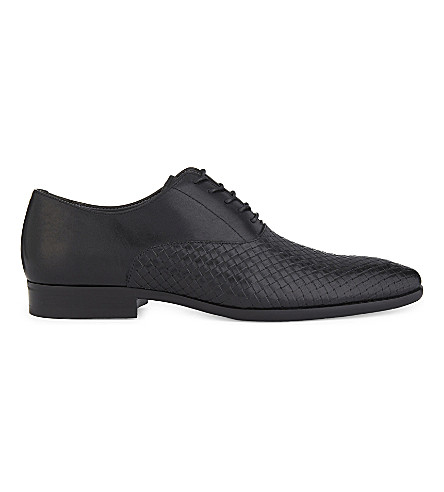 ALDO Piccadilly leather Oxford shoes (Black+multi
