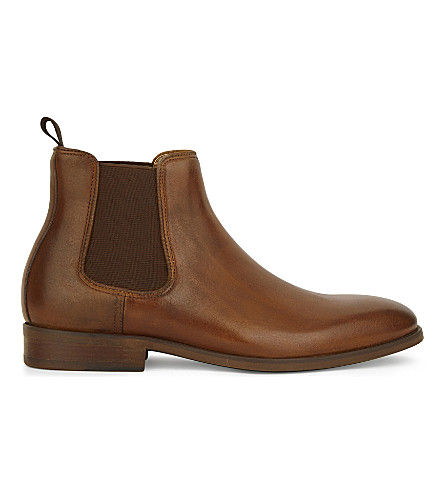 ALDO Croaven leather Chelsea boots (Cognac