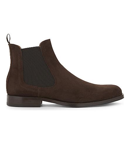 ALDO Angelucci suede Chelsea boots (Brown+suede