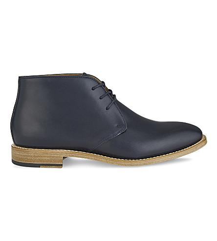 ALDO Grauniel leather Chukka boots (Navy