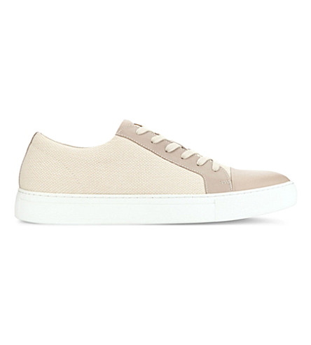 ALDO Abilidia textile and leather low-top trainers (Bone