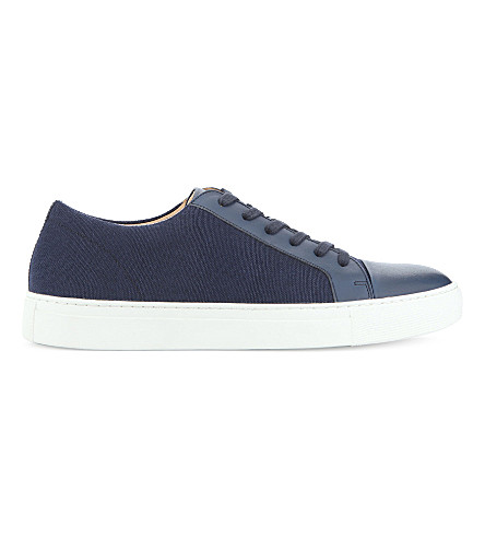 ALDO Abilidia textile and leather trainers (Navy++miscellaneous