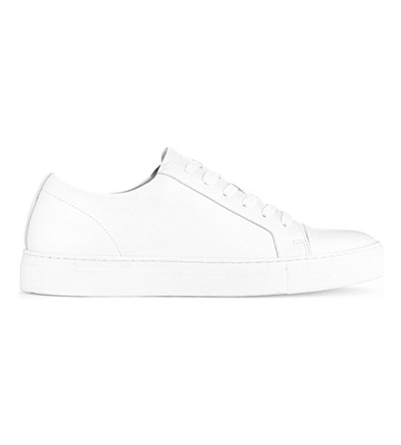 ALDO Abilidia leather low-top trainers (White