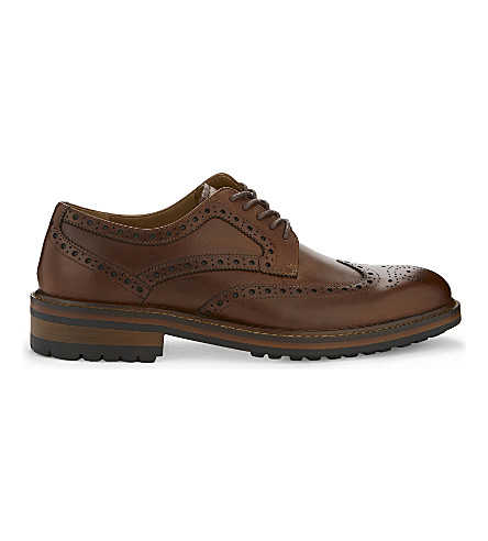 ALDO Teeling leather brogue shoes (Cognac
