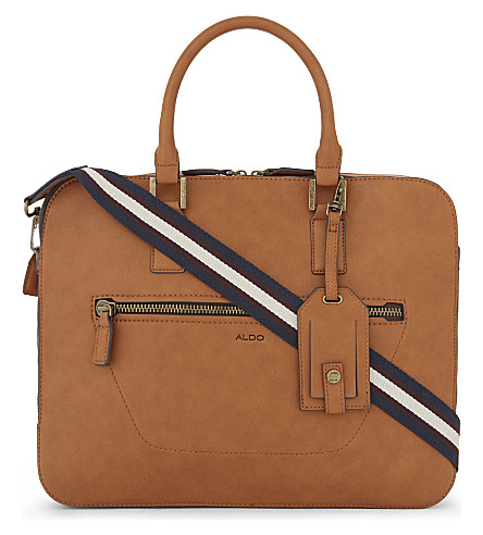 ALDO Mireaviel leather briefcase (Cognac