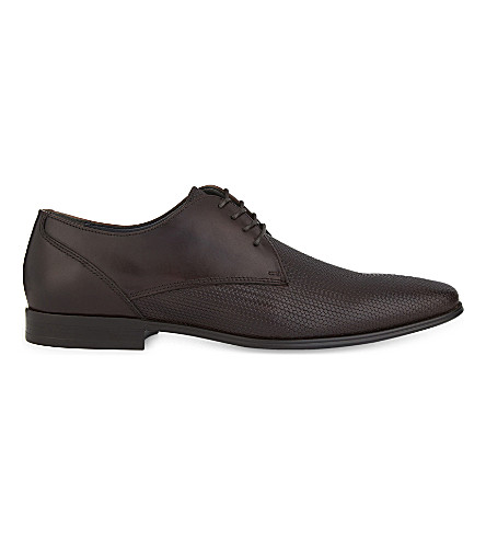 ALDO Lentina leather Derby shoes (Dark+brown