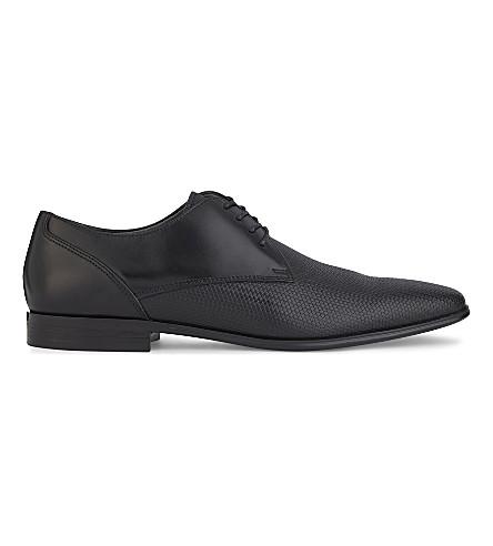 ALDO Lentina leather Derby shoes (Black+multi