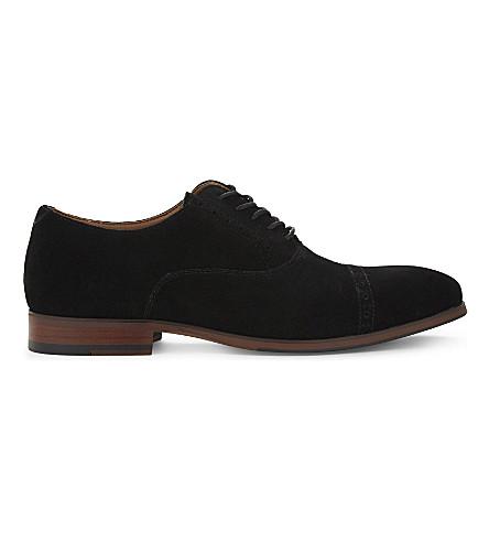 ALDO Aalian suede Oxford shoes (Black+suede