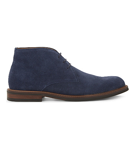 ALDO Granges leather desert boots (Navy+suede