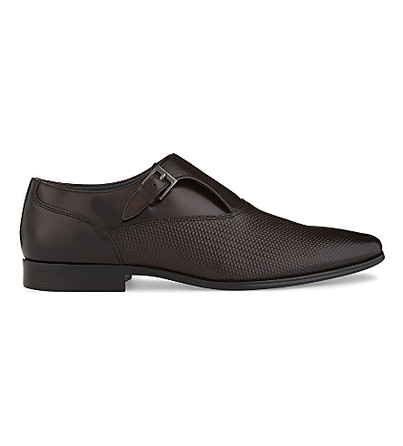 ALDO Kedoalia leather monk shoes (Dark+brown