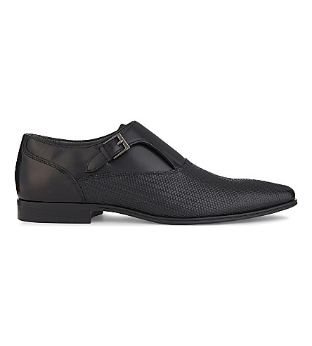 ALDO Kedoalia leather monk shoes (Black+multi