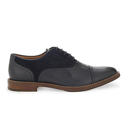ALDO Brilaniel leather & suede Oxford shoes (Navy