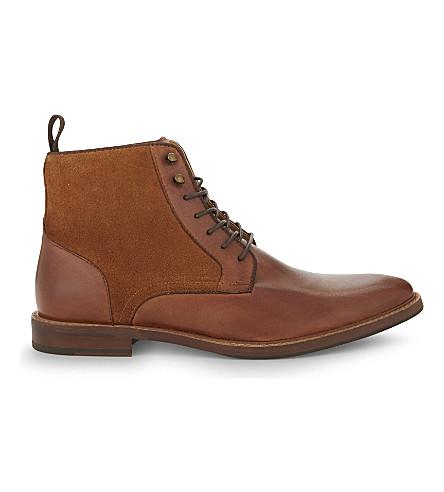 ALDO Bordogna leather Derby boots (Cognac