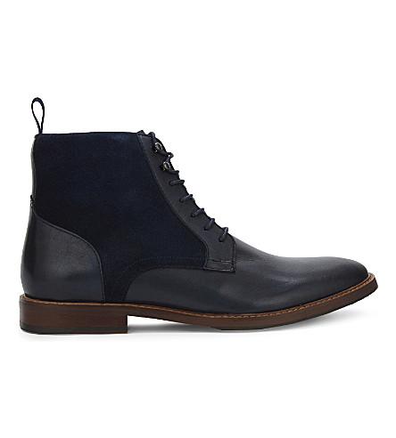 aldo bordogna suede and leather ankle boots selfridges