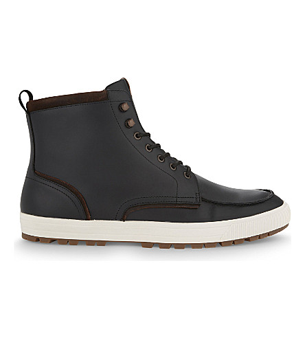 ALDO Ranstrom leather high-top trainers (Black+leather