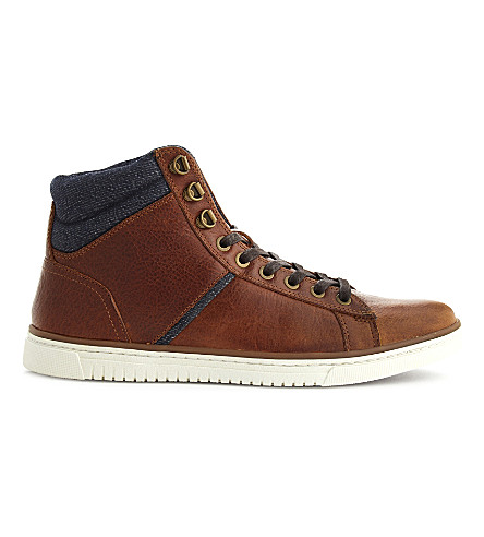 ALDO Grieff leather high-top trainers