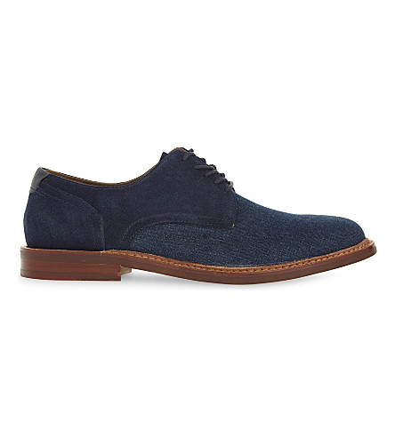 ALDO Uleradien suede & denim Derby shoes (Navy+multi