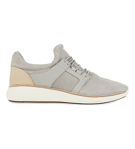 ALDO Gawley suede mid-top trainers (Grey