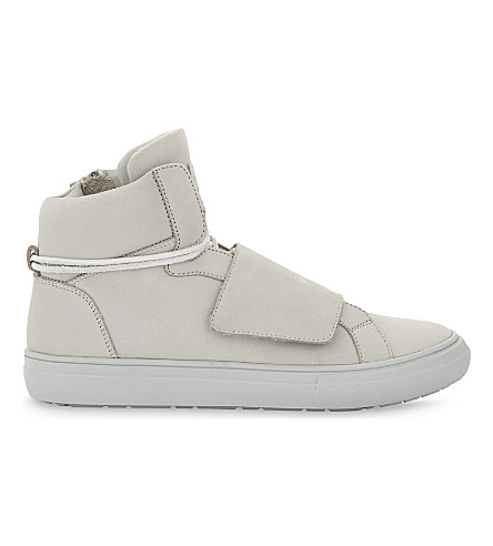 ALDO Alalisien-R leather high-top trainers (Light+grey