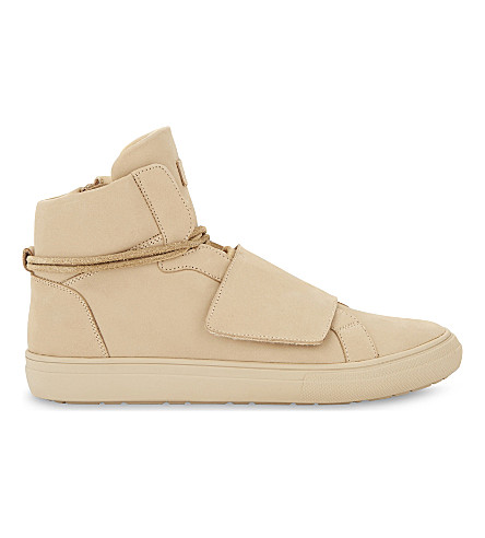 ALDO Alalisien-R leather high-top trainers (Cognac