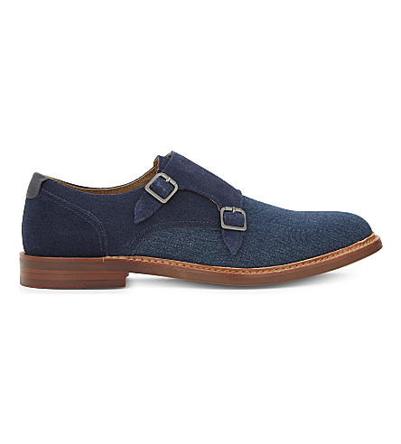 ALDO Chigodda leather and suede monk shoes (Navy+multi