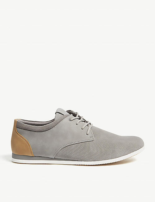 ALDO Aauwen-R leather and mesh trainers