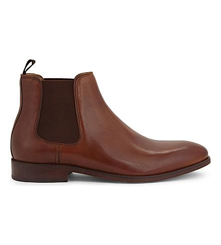 ALDO Croaven 皮革切尔西靴 (干邑