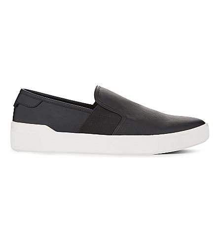 ALDO Ocilacien low-top trainers (Black+leather