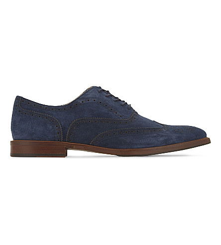 ALDO Bartolello-R suede Oxford shoes (Navy+suede