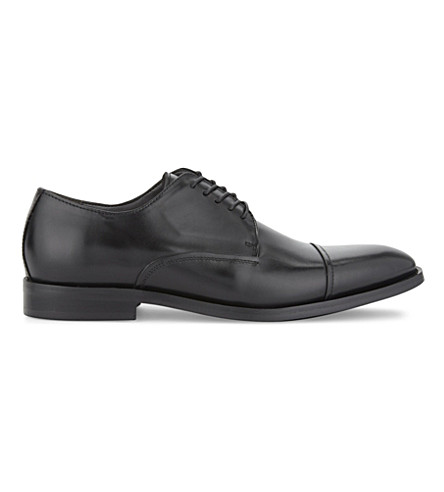 ALDO Lewer leather Derby shoes (Black+leather