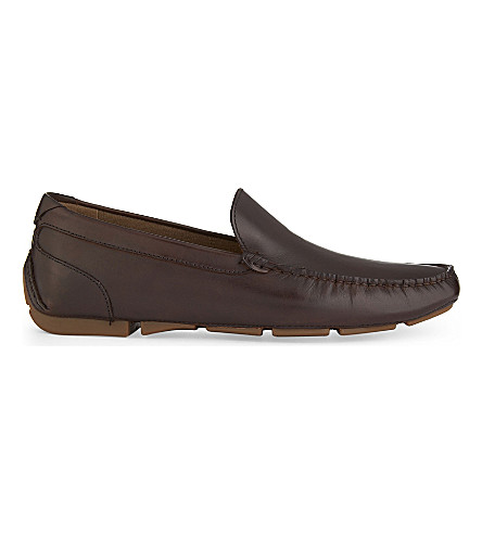 ALDO Giangrande leather loafers (Dark+brown