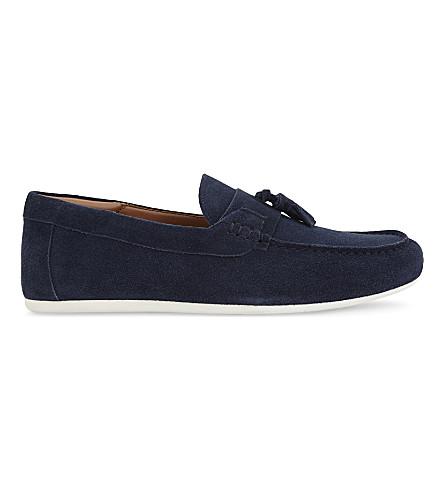 ALDO Melandre suede loafers (Navy+suede