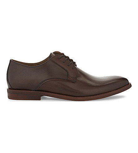 ALDO Yilaven leather Derby shoes (Dark+brown
