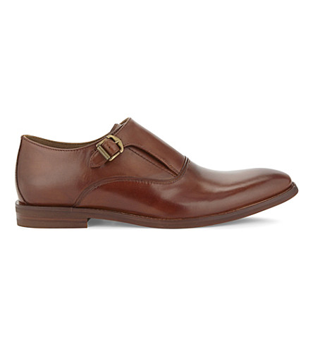 ALDO Catallo leather monkstrap shoes (Cognac