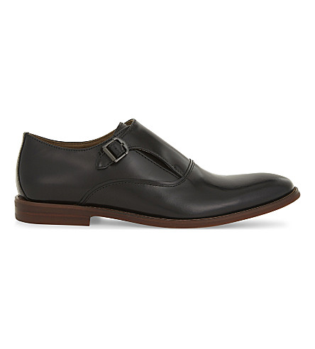 ALDO Catallo leather monk shoes (Black+leather
