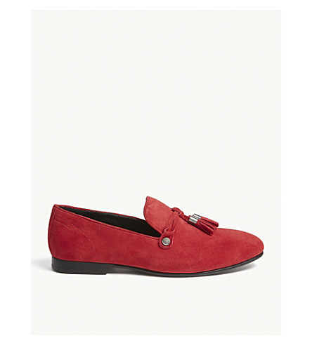 ALDO McCrery suede loafers (Red+suede