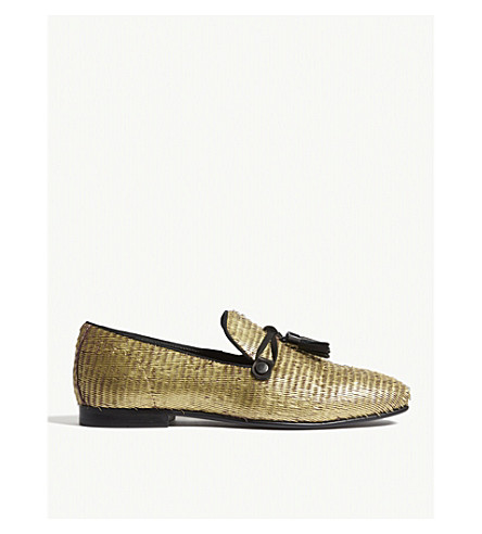 ALDO McCrery textured leather loafers (Gold
