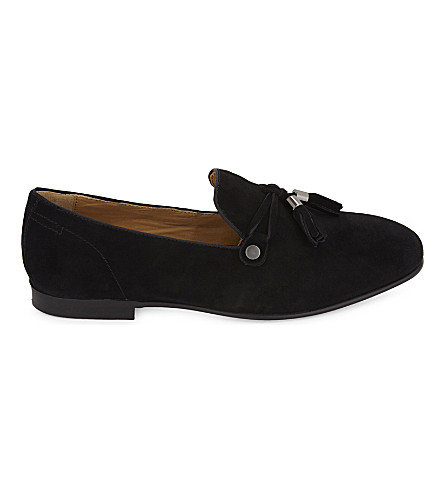 ALDO Mccrery suede loafers (Black+suede